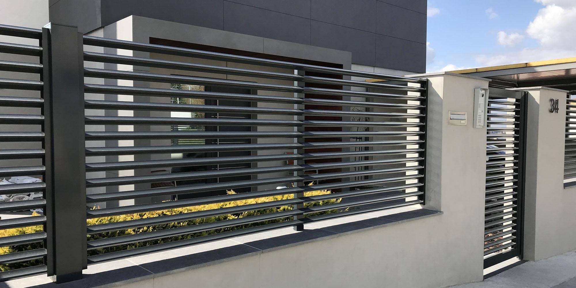 Hliníkový plot Tripolis od firmy ELMAR